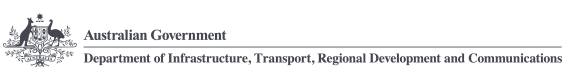 Department of Infrastructure, Regional Development and Cities Logo and link to Homepage